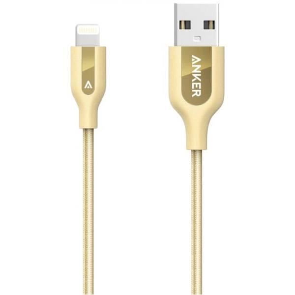 کابل Anker Powerline+ Lightning to USB 2.0 Sync & Charge Cable GOLD