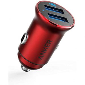 شارژر-اتومبیل ANKER -PowerDrive -2 -Alloy- car -charger