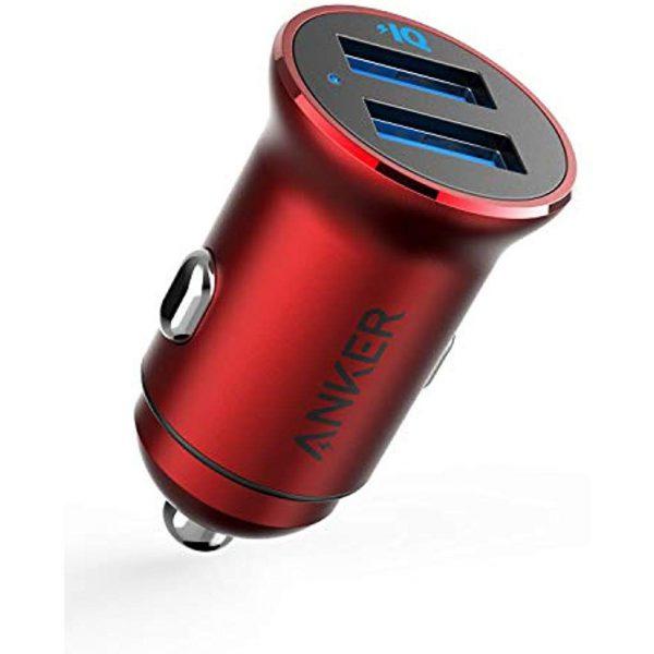 شارژر-اتومبیل ANKER -PowerDrive -2 -Alloy- car -charger