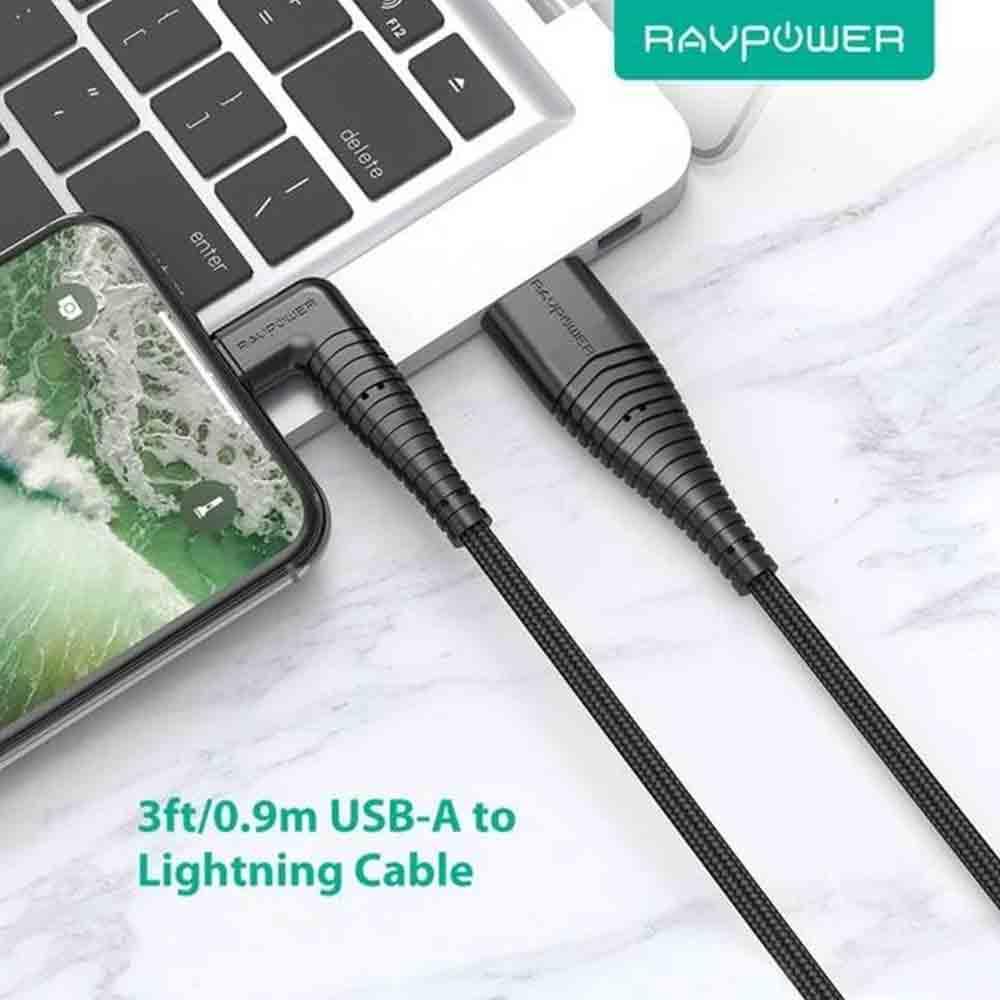 کابل تبدیل USB به لایتنینگ راو پاور مدل RB-CB013 طول 0.9 متر