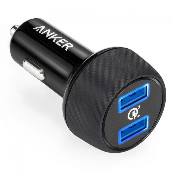 مشخصات و خرید شارژر فندکی Anker PowerDrive 2 Elite 24W car charger