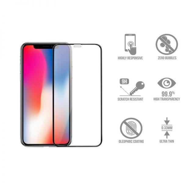 گلس تمام صفحه اپل iphone x/xs
