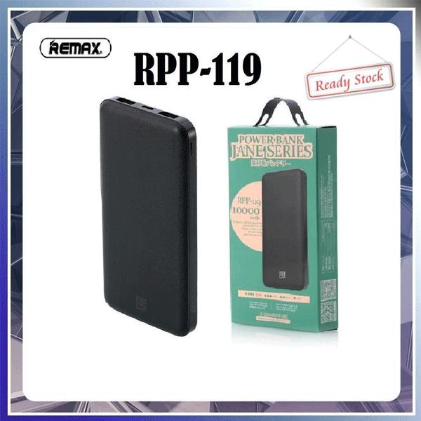 پاوربانک ریمکس مدل RPP-119 ظرفیت 10000 میلی آمپر ساعت
