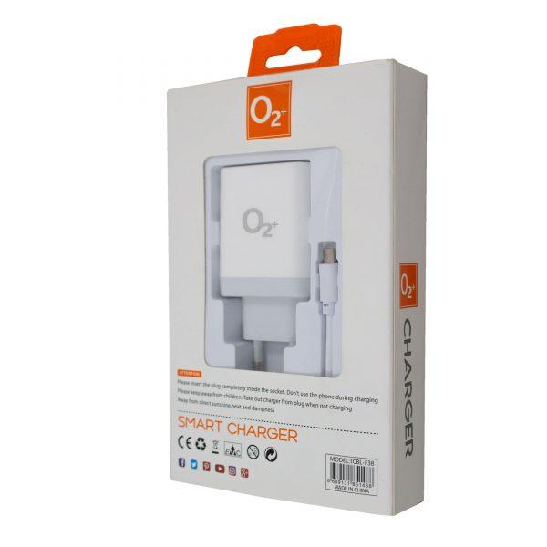 o2+ smart charger 2.1a 5v tcbl-f38