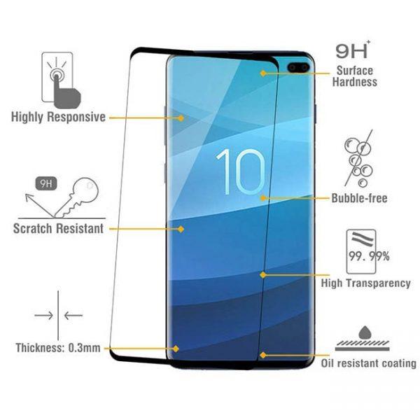 محافظ صفحه نمایش samsung galaxy s10 plus